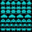 A group of space invaders — Stock Vector