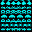 Stock Vector: Group of space invaders
