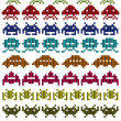 Colored silhouettes of Space Invaders — Stock Vector #32164305