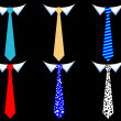 Colored men's ties — Stock Vector