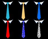Colored men's ties — Wektor stockowy
