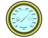 Round barometer — Stock Vector