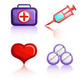 Indicaciones médicas — Vector de stock