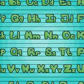 Patrones sin fisuras con el alfabeto — Vector de stock