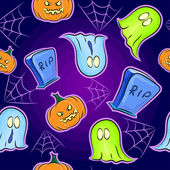 Seamless texture effrayant sur halloween — Vecteur