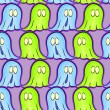Stock Vector: Seamless pattern with ghosts