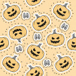 Stock Vector: Seamless texture for Halloween