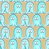 бесшовный фон с призраками — Cтоковый вектор