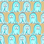 Seamless pattern with ghosts — Stok Vektör