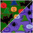 Stock Vector: Seamless texture on Halloween