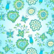 Cheerful blue and green pattern — Stock Vector