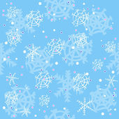 Blue winter pattern — Stock Vector