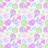 Flower Garden Seamless Pattern — Stock Vector