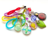 Multicolored handmade key chains — Stock Photo