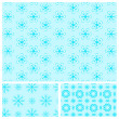 Blue seamless pattern with snowflakes — Stock Vector