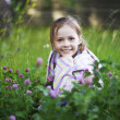 Stock Photo: Young girl in the grass
