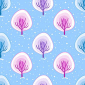 Seamless pattern with trees — Stockvector