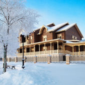 Russian country estate — Stock Photo