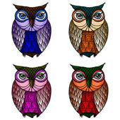 Owl - Illustration — Stock Vector
