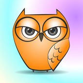 Illustration of a owl — Stock Vector