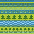 Royalty-Free Stock Vector Image: Vector seamless knitted pattern with pine