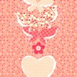 Valentine's Day background with butterflies - Stock Photo
