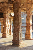 Some beautiful pillar of the Krishna temple in Hampi — Stock Photo