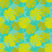 Seamless pattern with monstera leafs — Stock Vector