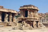 Sten vagn i vittala temple, hampi, indien — Stockfoto