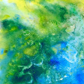 Tropic sea. Abstract watercolor background — Stock Photo