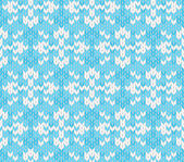 Vector seamless knitted pattern with snowflakes — Stock Vector