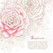 Fondo romántico con rosas — Vector de stock