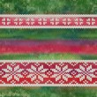Vector seamless knitted pattern with snowflakes — Stock Photo