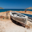 Greek boat on the Crete — Stock Photo