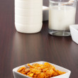 Royalty-Free Stock Photo: Cornflakes and glass of milk