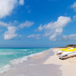 Idyllic beach of Caribbean Sea in Mexico - Stockfoto