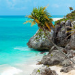 Idyllic beach of Tulum — Foto Stock