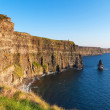 Cliffs of Moher at sunset in Co. Clare - Stock Photo