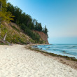 Cliff at Baltic sea, Poland - Stock Photo