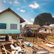 Ko Panyi fishing village at Phang Nga Bay - Stock Photo