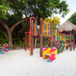 Kids playground on the beach - Stock Photo