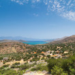 Lasithi Plateau on the east of Crete - Stock Photo