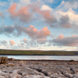 Atlantic sunset over Burren — Stock Photo