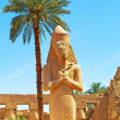 Ramesses II Statue at Karnak Temple, Luxor — Stock Photo