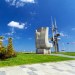 Joseph Conrad monument at Baltic Sea in Gdynia — Stock Photo
