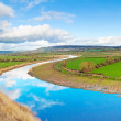 Scenery of Shannon river — Stock Photo