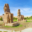 the colossi of memnon in luxor — Stock Photo