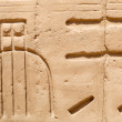 Hieroglyphic of pharaoh civilization in Karnak temple — Stock Photo