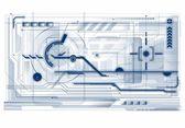 Abstract tech illustration. — Stock Vector