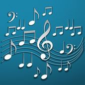 Music notes — Foto Stock